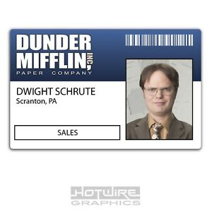 Plastic ID Card (TV & FILM Prop) - Dwight Schrute AMERICAN OFFICE Dunder Sales