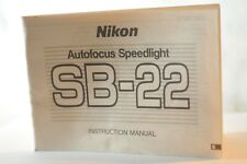 Nikon SB-22 SB 22 Speedlight flash instruction manual original Vintage