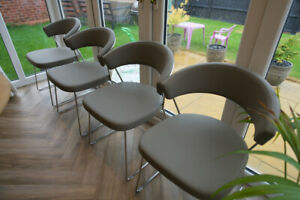 Connubia by Calligaris New York Dining Chair, Light Grey x4