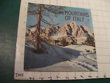 Vintage Booklet: 1954 BERLIN - THE MOUNTAINS OF ITALY - 38 pgs in English