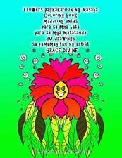 Flowers Pagkakaroon Ng Masaya Coloring Book Madaling Antas para Sa Mga Bata...