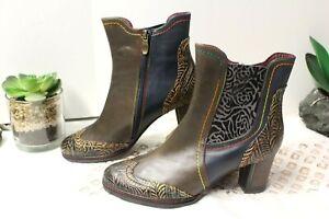 Spring Step L'Artiste Santana Ankle Boots Womens 39 EUC; 8.5-9 US; EUC