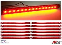 12X 12-24V 15 SMD LED SIDE TAIL MARKER RED LIGHTS LAMPS TRAILER TRUCK LORRY 9.5""