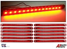 """12X 12-24V 15 SMD LED SIDE TAIL MARKER RED LIGHTS LAMPS TRAILER TRUCK LORRY 9.5"""""""