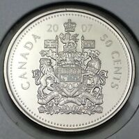 2007 Canada 50 Fifty Cents Brilliant Uncirculated Coin Not In Case D388