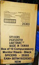 Compucessory Caja de 10 Ajustable 1.5 - 3.5ins Monitor elevadores Negro 25303 Sellado