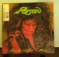 poison  OPEN UP AND SAY  ... AHH ! original cover  LP VINYL sealed corner dings