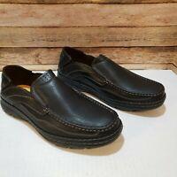 New Henry Ferrera Men's Slip On Comfort Shoe Loafers, Black, Size 12