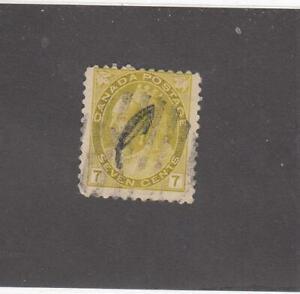CANADA (MK6735) # 81 F-USED 7cts 1902 QUEEN VICTORIA NUMERAL /OLI-YELLOW  CV $15