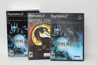 PLAYSTATION 2 Mortal Kombat Deception Sub Zero Collector's Edition Game NTSC