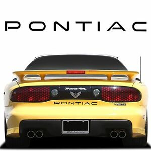 Black ABS Plastic Rear Bumper Inserts 1993-2002 Pontiac Trans Am Firebird New