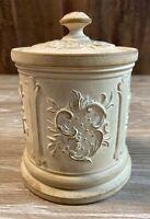 Unglazed Clay Tobacco Jar Humidor Stamped JMI or JME 3334