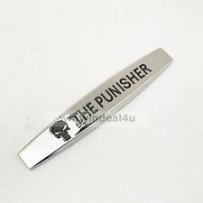 3D Punisher Skull Fender Emblem Silver Chrome Car Side Wing Badge Sticker