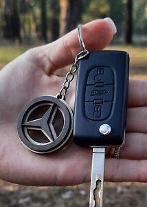 Best Price Wooden Mercedes Benz Keyring Key Laser Cut Wood Car Keychain Natural