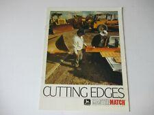 1988 John Deere Grader Loader Scrape Dozer Tractor Blades Cutting Edges Brochure