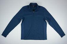 NEW Hugo Boss Mens Small S Blue Half Zip Active Pullover Sweatshirt Sweater NWT