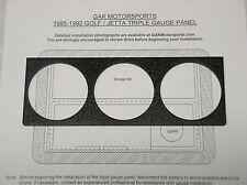 VW A2 Mk2 Golf GTI Jetta Triple Gauge Panel Black GAK Motorsports