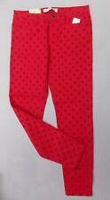 Womens sz 10 Joe Fresh Stretch Polka Dot Pants NWTS raspberry pink 1017-s22