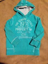 Next Girls Green Hooded Long Sleeve Top Size 4 Years Good Condition