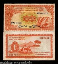 SOUTH WEST AFRICA 1 POUND P8 1-5-1958 SHEEP RARE CURRENCY MONEY STANDARD BANK