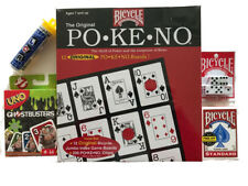 Family Game Night!  POKENO, UNO Ghostbusters, LCR, Dice & Bicycle Playing Cards
