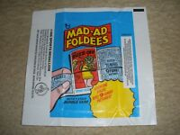 1976  Topps Mad-Ad Foldees Wrapper ExMt