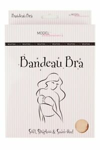 Bandeau Bra with Padded Inserts - Soft and Seamfee Strapless Backless Tube Bra