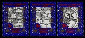 Dominican Republic 838-9, C327 MNh Christmas, Three Kings, Carolers