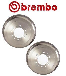 Set of 2 Rear Brake Drums Brembo for Toyota 4Runner Pickup T100 Tacoma Tundra