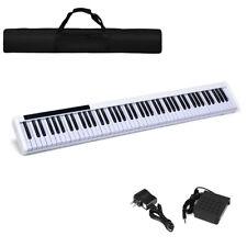 88 Keys Portable Digital Piano Electric w/ Sustain Pedal & Bluetooth Black Gift