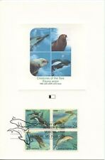 1990 FDI, SEA CREATURES SET 5 PROOF CARDS, JOINT ISSUE