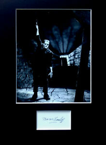 BORIS KARLOFF signed autograph PHOTO DISPLAY FRANKENSTEIN Horror movie
