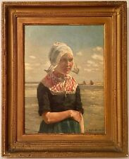 Listed American Artist George Hitchcock (1850-1913) Signed Oil Painting On Board