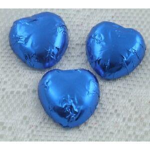 Royal Blue Luxury Swiss Milk Chocolate Hearts   Ideal Wedding Favour Sweet