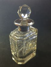 Ancien Flacon de Parfum en Cristal Taillé et Argent Sterling XIXème