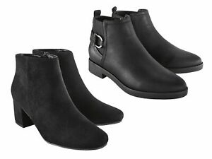 ESMARA® Damen Stiefeletten Damenschuhe Schuhe Reißverschluss Schwarz Stiefel NEU