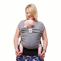 Premium Baby Wrap Around Sling Carrier Grey One Size Fits All UK POST FREE