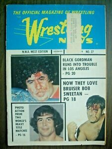 WRESTLING NEWS NWA WEST#27 FALL'74 ANDRE! DESTROYER! GRABLE-WILLIAMS PINUP! WFIA