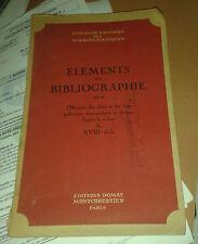 Eléments de bibliographie sur l'Histoire des idées depuis le milieu du XVIIIe s.
