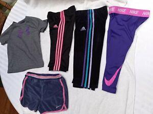 LOT Athletic Clothes Toddler Girls Size 18M 2T 3T 4 Shorts Pants Nike Adidas UA