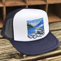 Salmon Steelhead Fishing Trucker Hat Vintage 80's Style Snapback Cap Trout Fish