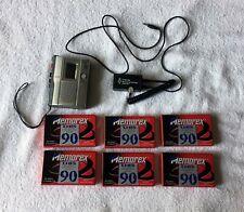 Sony TCM-200DV Cassette Recorder + ACS Phone Recording Jack + 6 Memorex tapes