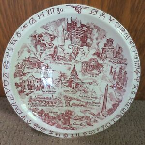 Texas Lone Star State Plate Governed Under Six Flags Vernon Kilns