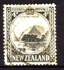 NEW ZEALAND....  1941 pictorial  4d mitre peak used, perf 12½....cv £15