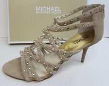 Michael Kors Size 9.5 Leather Strappy Beige Heels New Womens Shoes