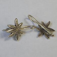 Leaf Earrings  Karen Hill tribe Silver