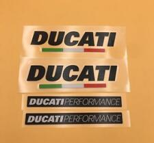 Motorcycle Badge Emblem Decal Stickers Set for Ducati Performance Racing Models