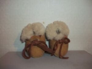 sheepskin booties slippers baby/infant handcrafted leather wool