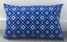 """Cubierta Cojín Azul marroquí Azulejos 16x24"""" geométrico grandes Rectángulo de doble cara"""