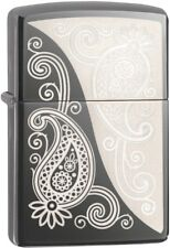 Zippo Choice Engraved Paisley Design WindProof Lighter Black Ice 29511 NEW L@@K